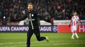 Le joueur du Paris SG Neymar buteur. AFP