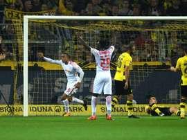 El Leipzig ha vencido en su visita al Westfalenstadion de Dortmund. AFP