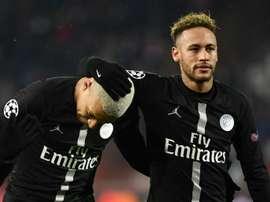 Neymar encense Kylian Mbappé. AFP