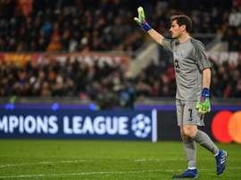 Iker Casillas fala sobre o retorno do futebol. AFP