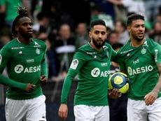 Saint-Etienne n'exclut pas une baisse des salaires des joueurs. AFP