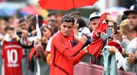 Coutinho alabó al Bayern. AFP