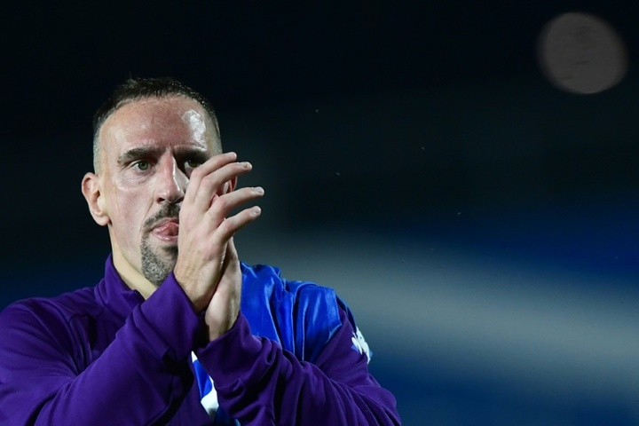 Franck Ribéry firmó con la Salernitana como agente libre. AFP