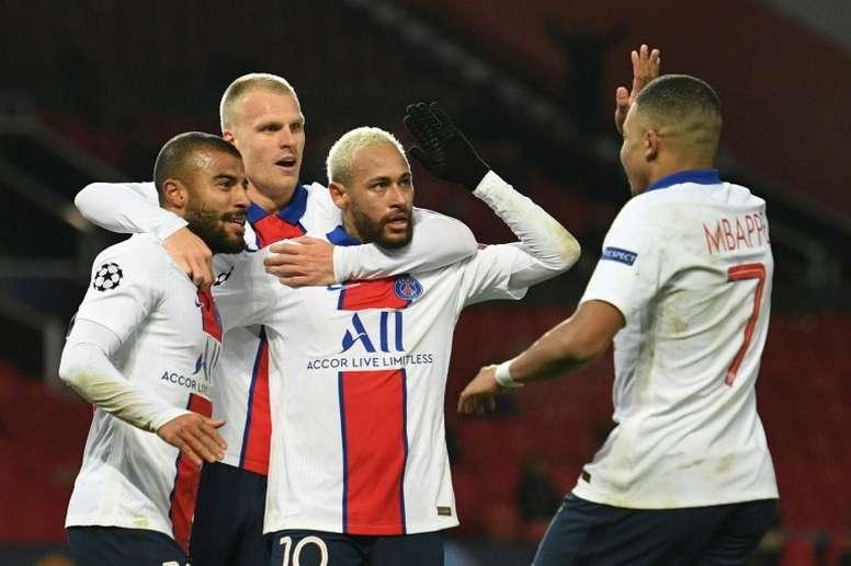 Victorieux de Manchester United, le Paris SG peut continuer de rêver. afp