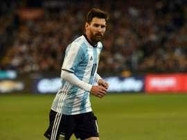 Lionel Messi lors du match amical de l'Argentine contre le Brésil, le 9 juin 2017 à Melbourne. AFP