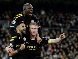 Mahrez thinks City can win the Champions League. AFP