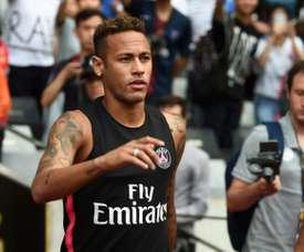 Neymar made his comeback. AFP