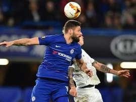 Giroud, sur le point d'être renouvelé à Chelsea. AFP