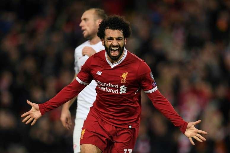 Salah est au top. AFP