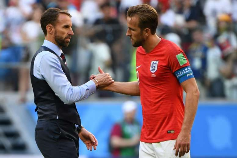 Southgate has formed a close relationship with his captain. AFP