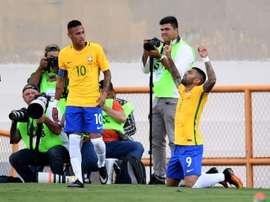 La selección liderada por Neymar sigue preparando sus Juegos. AFP