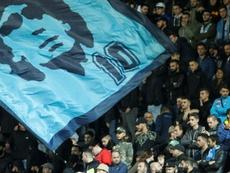 Naples et Maradona, une histoire d'amour et de passion. afp