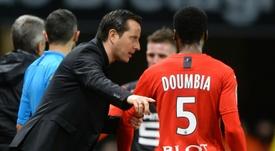 Les compos probables du match de Ligue 1 entre Nîmes et Rennes. AFP