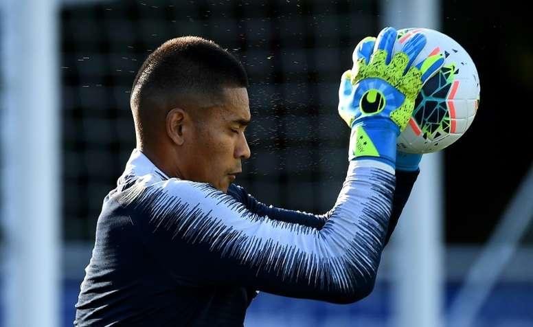 Areola llegó a Madrid cedido por el PSG. AFP