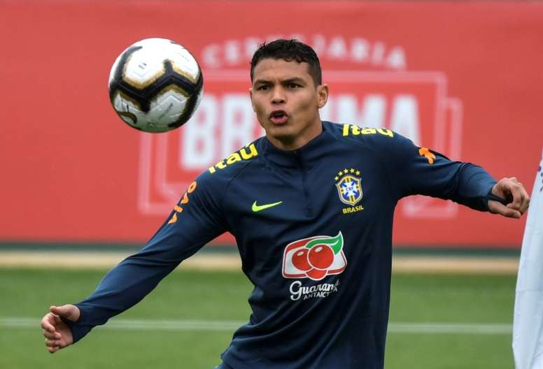 Thiago Silva habló de Rodrygo. AFP