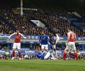 Arsenal défait à Everton. AFP