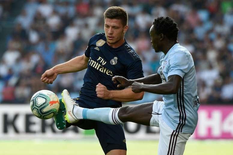 Luka Jovic est la priorité de l'AC Milan. AFP