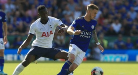 Wanyama (L) could leave Tottenham. AFP