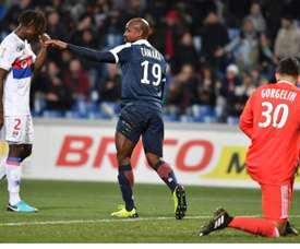 El Montpellier endosó un 1-4 al Olympique de Lyon. AFP