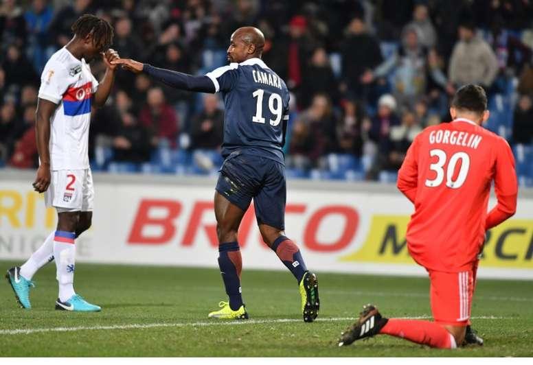 Souleymane Camara, auteur d'un doublé face à Lyon. AFP