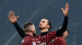 Zlatan Ibrahimovic fez o primeiro gol do Milan sobre a Juventus. AFP