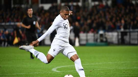 Mbappe opened up in the interview. AFP