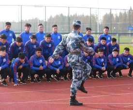 L'équipe de football Shanghai Shenhua.