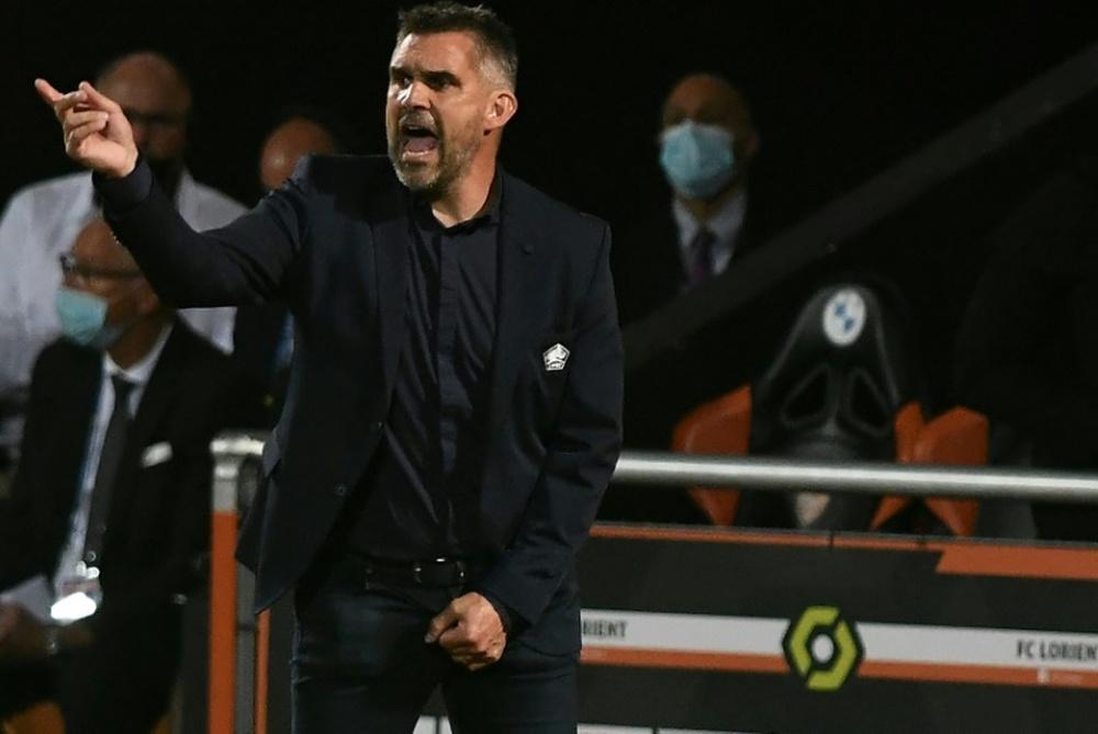 L'entraineur lillois Jocelyn Gourvennec a appelé ses troupes à se rebiffer. AFP