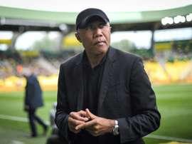 Kombouaré et la Ligue 1, la stat impressionnante. AFP