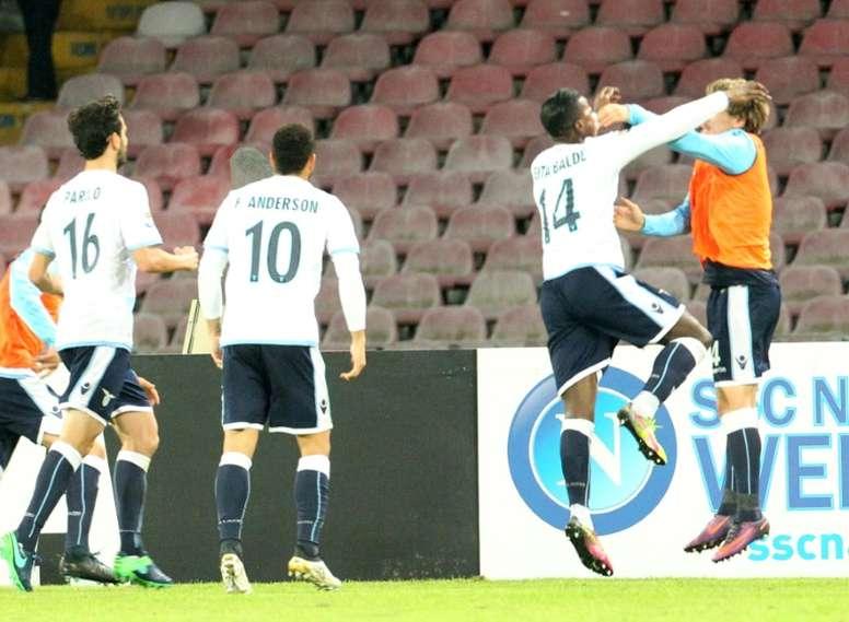 Baldé logró el gol del empate en San Paolo. AFP