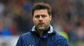 L'entraîneur de Tottenham Mauricio Pochettino avant le coup d'envoi du match face à Burnley. AFP