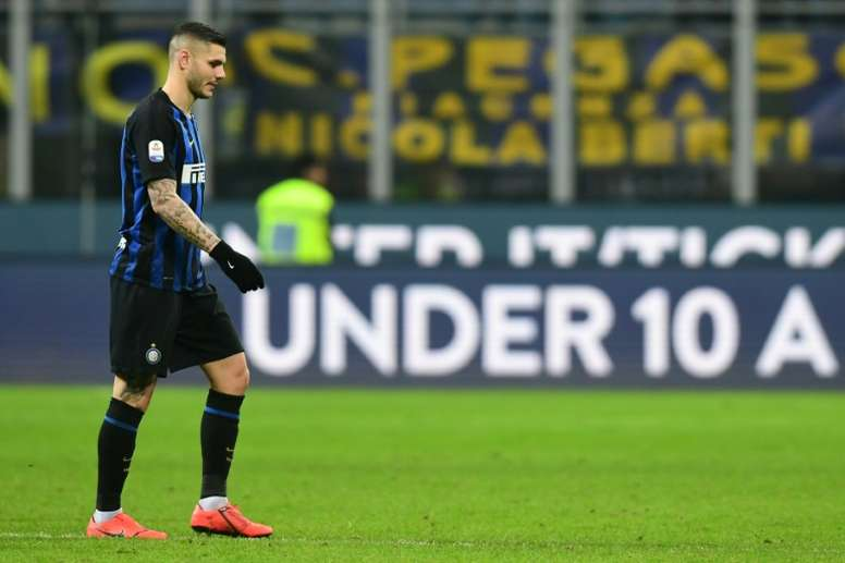 Mauro Icardi's future is still to be determined. AFP