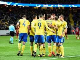 Suecia goleó a Luxemburgo. AFP