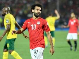 Mo Salah désolé par l'élimination de l'Égypte. AFP