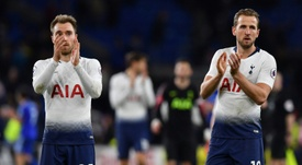 Kane and Eriksen will look to strengthen their side's title bid. AFP
