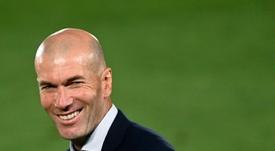 Como técnico, Zidane soma 55 vitórias como local e 45 como visitante no Campeonato Espanhol. AFP