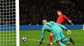 Lewandowski, lesionado. AFP