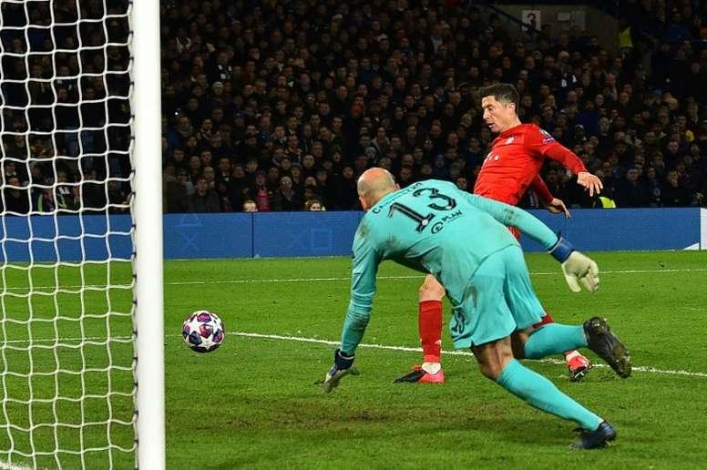 Lewandowski repasse en tête du classement des buteurs. AFP