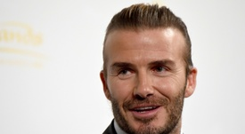 David Beckham lors de la promotion d'un casino. AFP