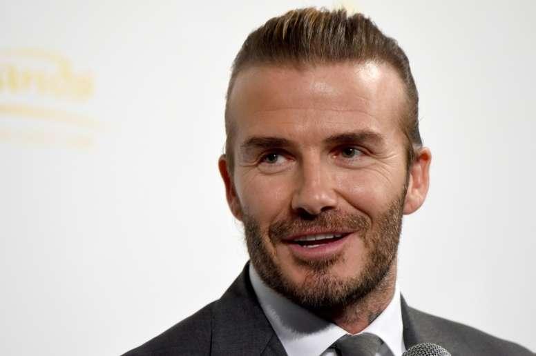 L'ex-star de foot David Beckham, le 4 october 2017 à Tokyo. AFP
