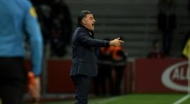 Christophe Galtier lors du match nul 1-1 à domicile face à Reims. AFP