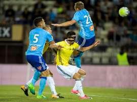 Germain a marqué un triplé contre Ostende. AFP