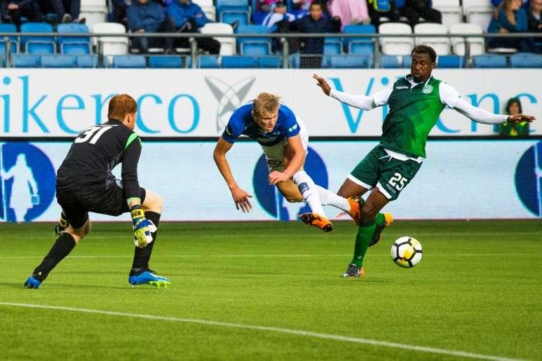 El día que Haaland marcó cuatro goles con Solskjaer... y el United en la grada. AFP