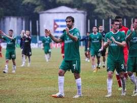 Le New York Cosmos, dans lequel évoluait Raul (N.7), lors dun match amical à Cuba, le 2 juin 2015 à La Havane