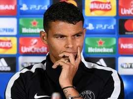 Thiago Silva: Pastore spat resolved. AFP