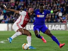 Ajax é multado por confusão contra o Getafe. AFP