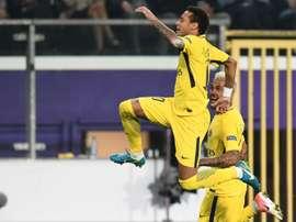Neymar voltou a 'picar o ponto'. AFP