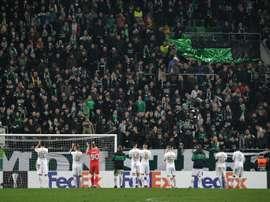 Les supporteurs de foot de retour au stade en Hongrie. AFP