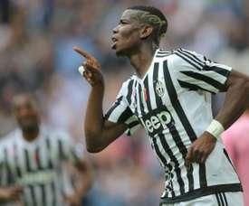 Pogba abrió distancias en el marcador con su gol en el minuto 70. AFP