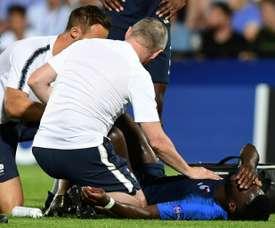 Jonathan Bamba forfait pour la fin du tournoi. AFP